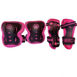 PROTECCIONES SET GIRLS NEW ROSA MARCA KRF