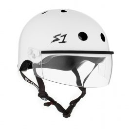 CASCO S1 WHITE GLOSS CON VISOR