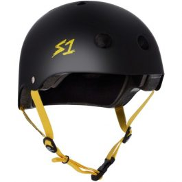 CASCO S1 BLACK MATTE W/YELLOW STRAP