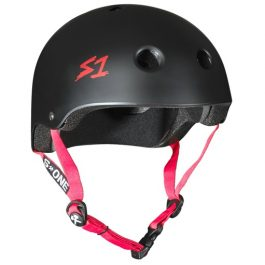 CASCO S1 BLACK MATTE W/RED STRAPS