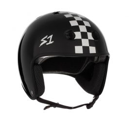 CASCO S1 RETRO BLACK MATTE W/ CHECKERS